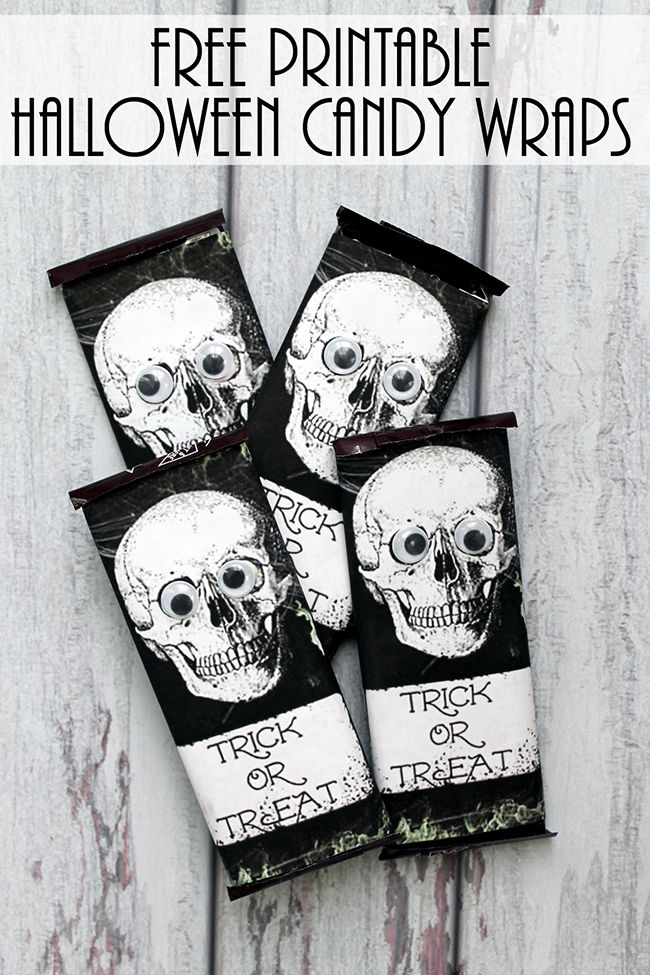 Printable Halloween Candy Wrappers In 2018 Diy Printable Crafts