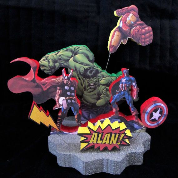 Avengers Cake Topper Centerpiece Thor Captain America