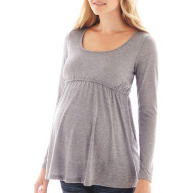 tripadvisor nobis hotel stockholm Maternity Long Sleeve Knit Babydoll Top  found at  JCPenney