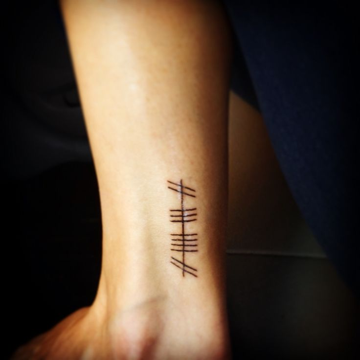 "My Gaelic Ogham tattoo...it means ""family"" or ""clan"""