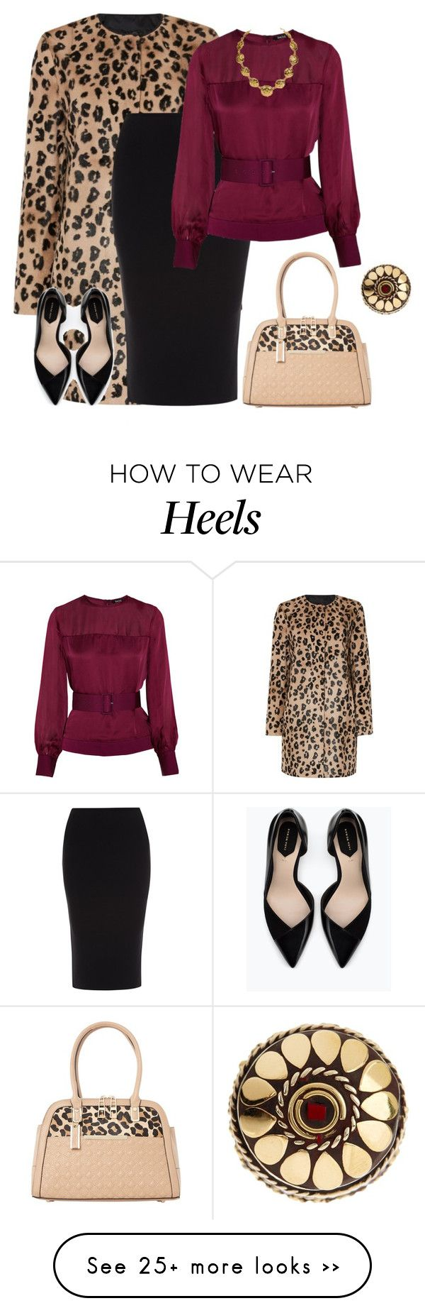 """outfit  2414"" by natalyag on Polyvore featuring MaxMara, Roland Mouret, Raoul, Zara, Dune and Rituals"