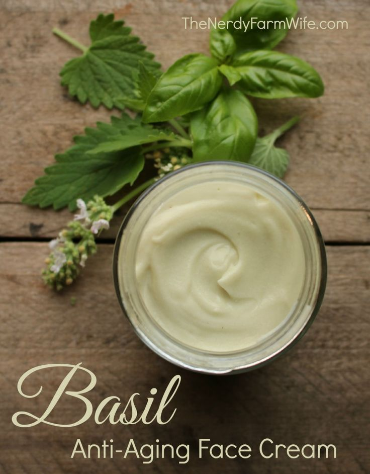 Basil Anti-Aging Face Cream Recipe