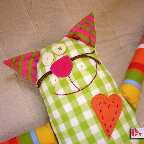 Cat - textile toy   by petrucha_handmade