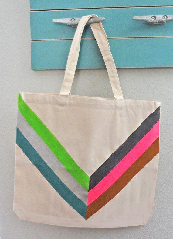 Chevron Tote Bag by RadBagGear on Etsy, $19.95