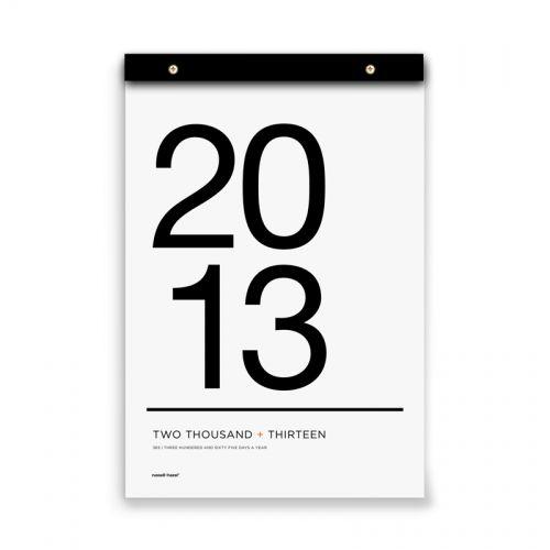 I really want this 2013 Tissue Calendar | www.russellandhazel.com