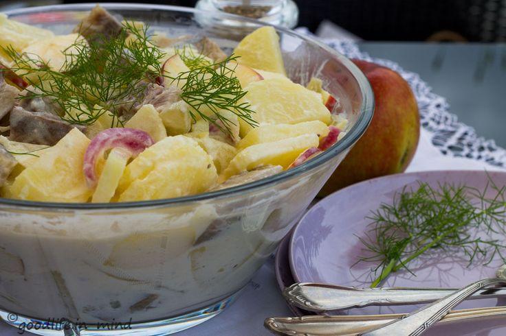 Matjes-Kartoffelsalat mit schnellen sauren Gurken - goodlife.in-mind.de