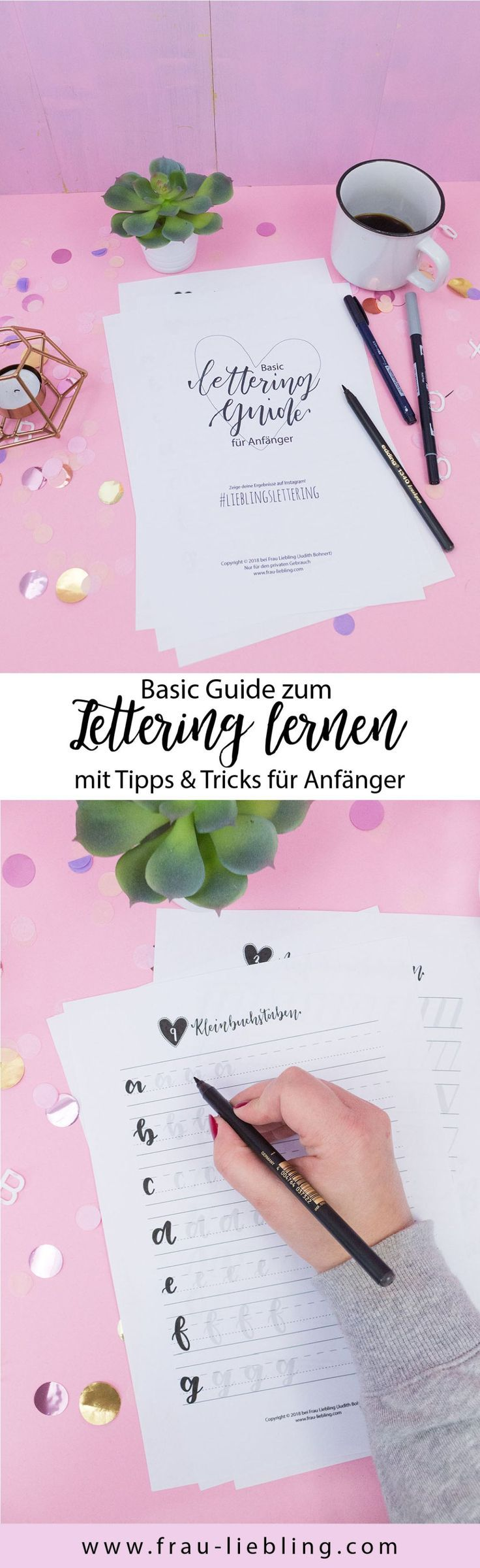 Basic Lettering Guide – einfach Lettering lernen – Céline Laager