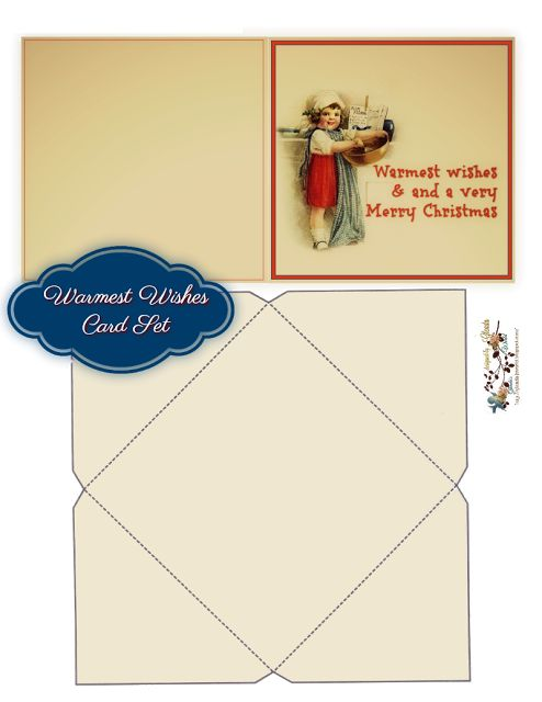 FREE from glenda's World : 2017 Christmas Designs  ***  Warmest Wishes Christmas Card Set ***