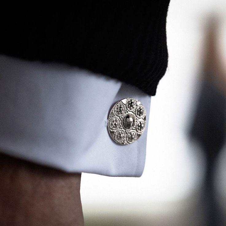 Silver cufflinks   Designer cufflinks   Augustine