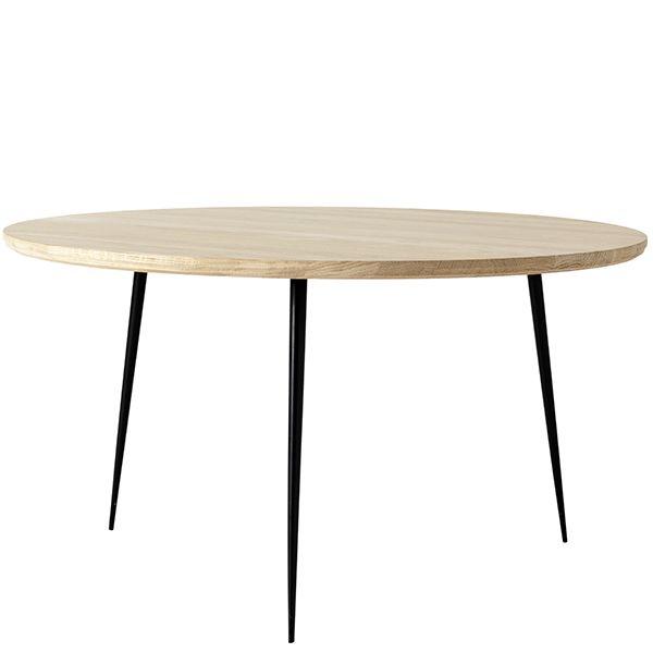 Disc sivupöytä, keskikokoinen, saippuoitu tammi