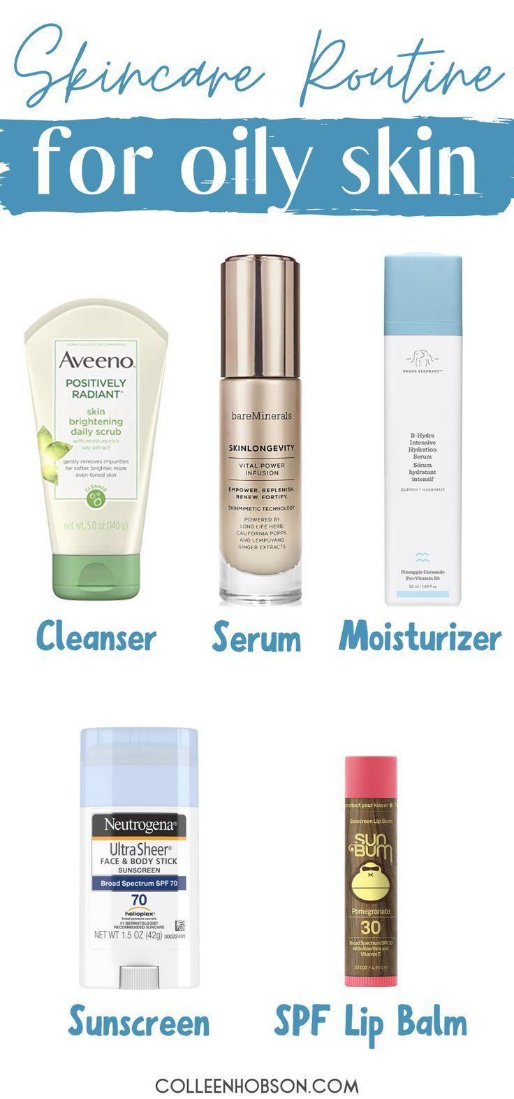 Daily Skincare Routine For Oily Skin Oily Skin Skin Care