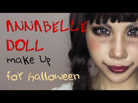 Annabelle Doll Halloween Makeup tutorial Transformation the Conjuring 애나벨 인형 할로윈 메이크업 튜토리얼 - YouTube
