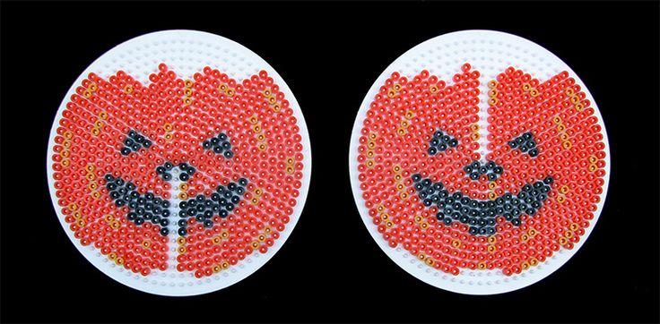 Motiv lagt på Ø15 cm. perleplader