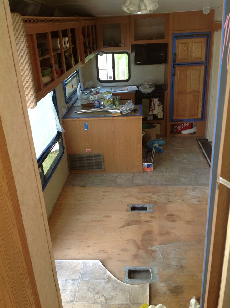 """Thinking about revamping your RV, but need some decorating ideas? Then check out """"Follow the High Line Home"""" 5th wheel DIY redo, for some Great ideas for organizing and making things feel bigger ;)"""