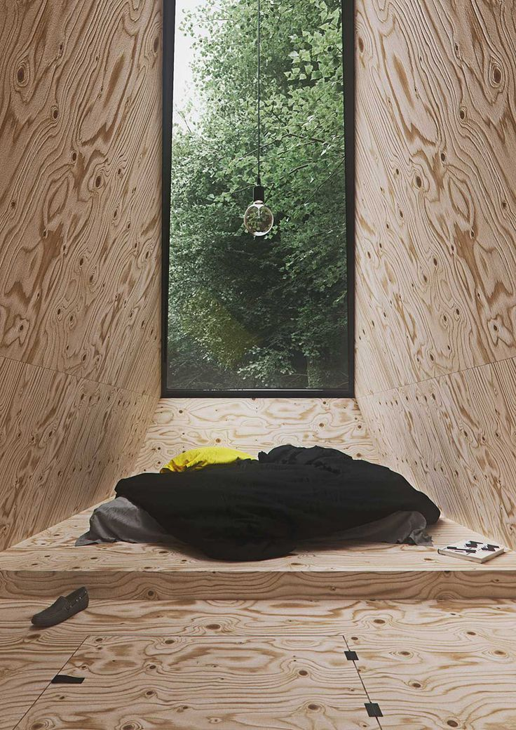 Industrial Design student Tomek Michalski drafted this cabin in the forest as a retreat for people who need rest.