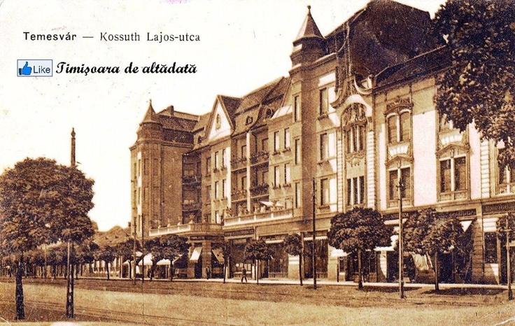 Timisoara - 1910 - Kossuth Lajos-utca a fost bulevardul central al Josefinului, artera care traversa cartierul de la Est la Vest