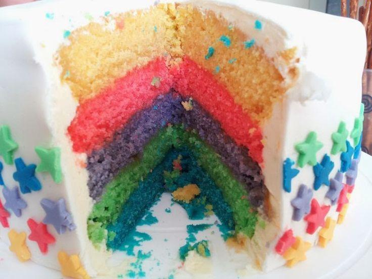 VEGAN! kochen & backen: Regenbogentorte mit Einhorn