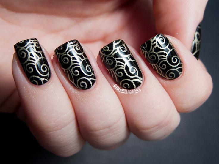 364 best nail art polish images on pinterest nail arts nail party perfect black and gold nail art ideas prinsesfo Choice Image