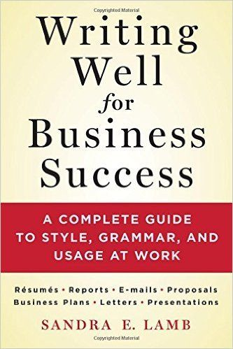 "Happy Birthday to Sandra E. Lamb, author, Writing Well for Business Success! 2015 VIDEO INTERVIEW  SANDRA E. LAMB podcast excerpt: ""I think even Hillary Clinton has conceded that it's very important that you know the office e-mail rules and follow the rules. Meticulously. That is going to put you in better stead with your employer.""  https://mrmedia.com/2015/09/expert-makes-writing-well-for-business-success-easy-video-interview/"