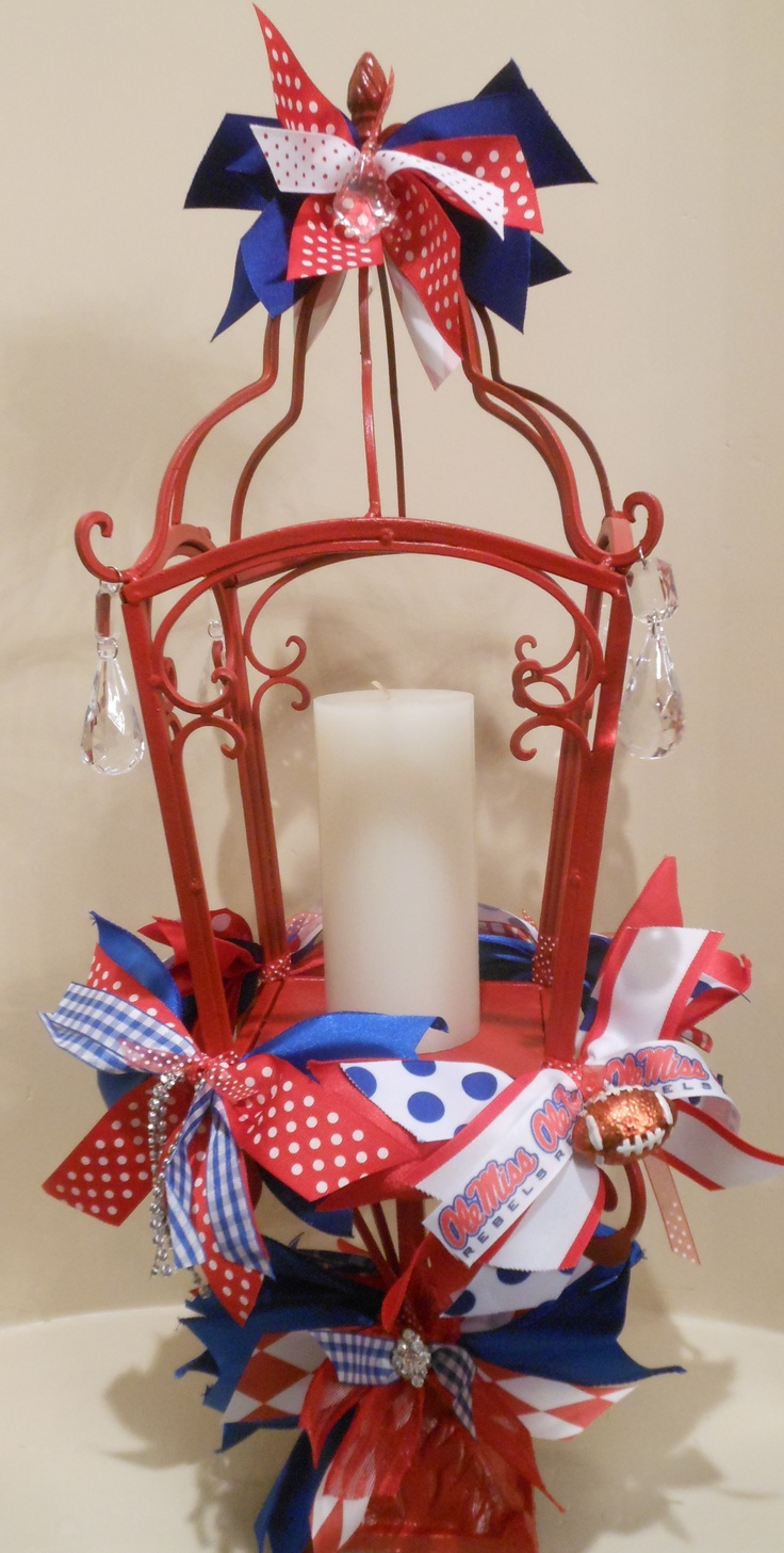 I'm going to do this for my tailgate this year, but without all the tacky Ole Miss colors.