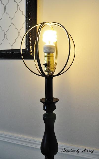 Metal Sphere Lampshade Floor Lamp Redo Lamp