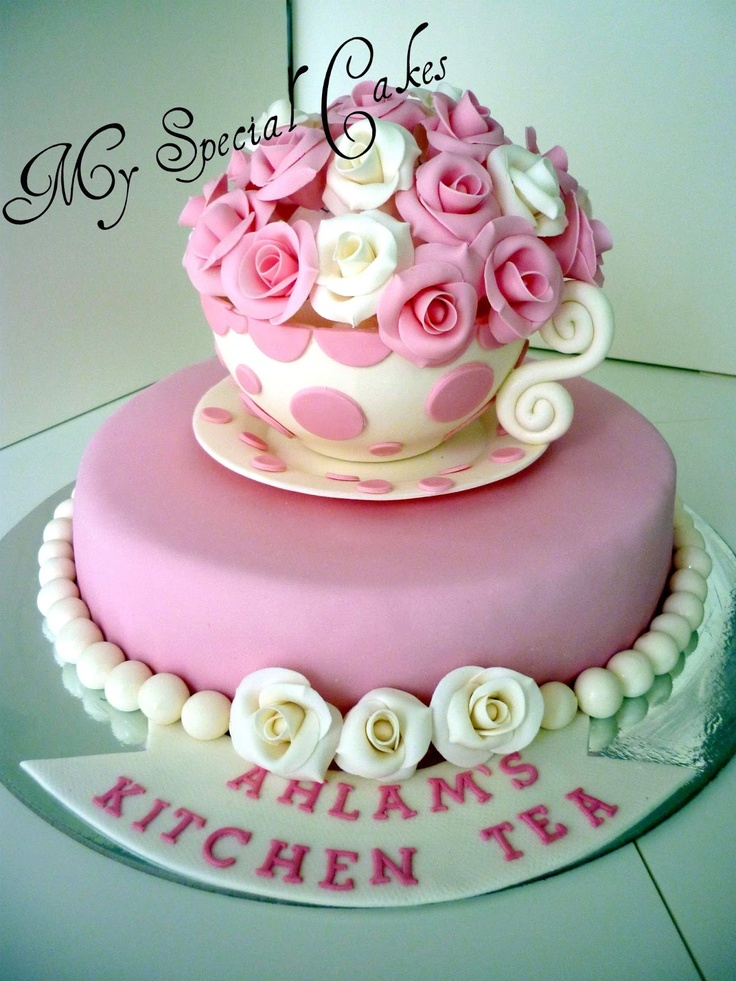 59 best Kitchen Tea Bridal Shower Cakes images on Pinterest