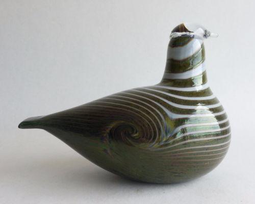 Bird-by-Oiva-Toikka-Iittala-Art-Glass-signed-Long-Tail-Duck-Birds