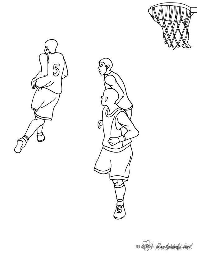 ведения мяча баскетбол раскраска спортивные игры раскраска