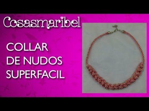 Como hacer un collar de nudos precioso en tres minutos . - YouTube