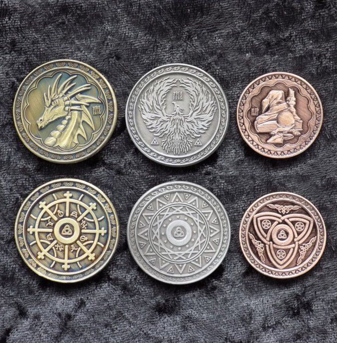 Fantasy Coin:Legacy Gaming Coins ,31 different themes, New Gems, free loot! http://kck.st/2aZn2TC  #boardgame #RPG