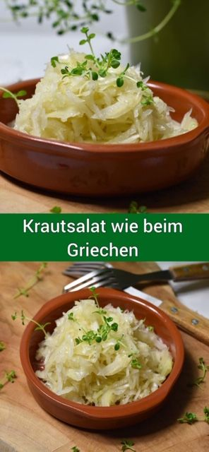 Krautsalat wie im Griechischen   – Kochen mit Karambakarina's Welt