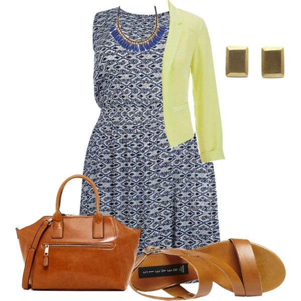 easy plus size summer office look2