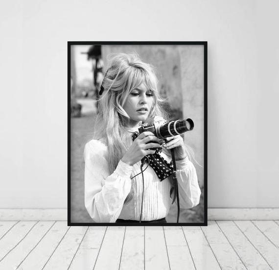 Brigitte Bardot Print Fashion Print Bardot Poster Fashion Etsy Brigitte Bardot Photography Movies Vintage French Posters