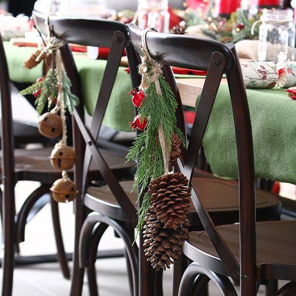 Natural Pine Cone Drop Trio in Rustic Christmas