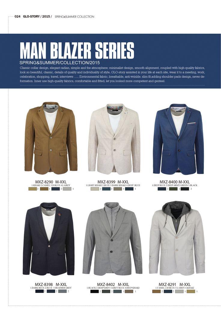 Man Blazer Series by Glo-Story   #formen #clothing #fashion #glostory #blazer #shirts #grey #denim #tropical