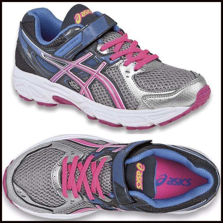 #Asics raspberry, grey & blue #sneaker. The kids are pretty sporty in