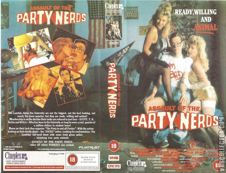 ASSAULT of the PARTY NERDS (FILMTRUST, 1989), PAL VHS, CINEPLEX HOME ENTERTAINMENT, what is the E.U., Louise BROOKS, Michelle BAUER, Linnea QUIGLEY, Jennifer AYACHE, Louise BASILIEN, Color Me Nana, Dylana SUAREZ, Natalie Off Duty, Natalie SUAREZ, Jeanne DAMAS, grunge, otsatukat, indie skene, fashion inspiration, feministinen taide, #Gamergate, #ImWithHer, videokirjasto, rockabilly outfits, hippie goth, gootti, Grindhouse, poikatytöt, metallimusiikki, #WCW, boheemi, tyyli, muoti, punaiset…