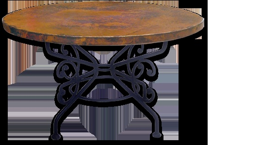 copper top table home pinterest copper dining room furniture
