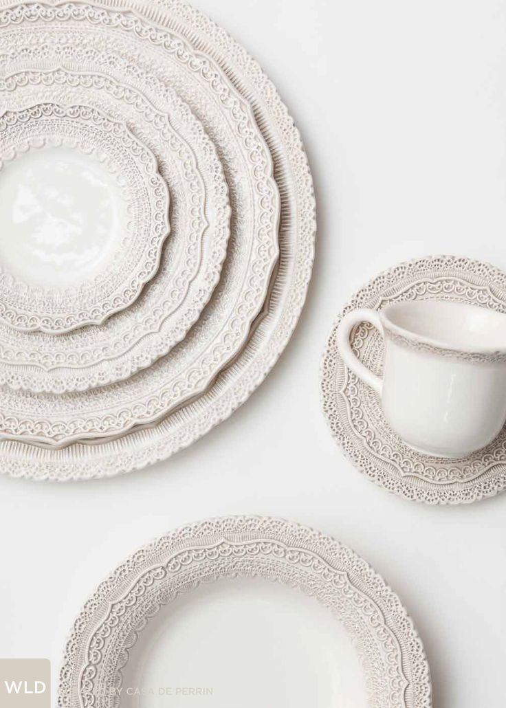 White Lace Dinnerware | Dinner Plate Salad Plate Bread Plate Bowl Cup : white tableware - Pezcame.Com
