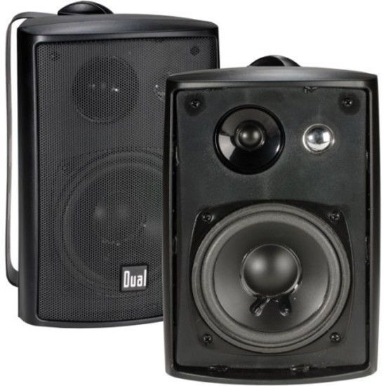 2 Wall Mount Speaker Waterproof Patio Poolside Surround Sound Stereo Home  Audio #DualElectronics