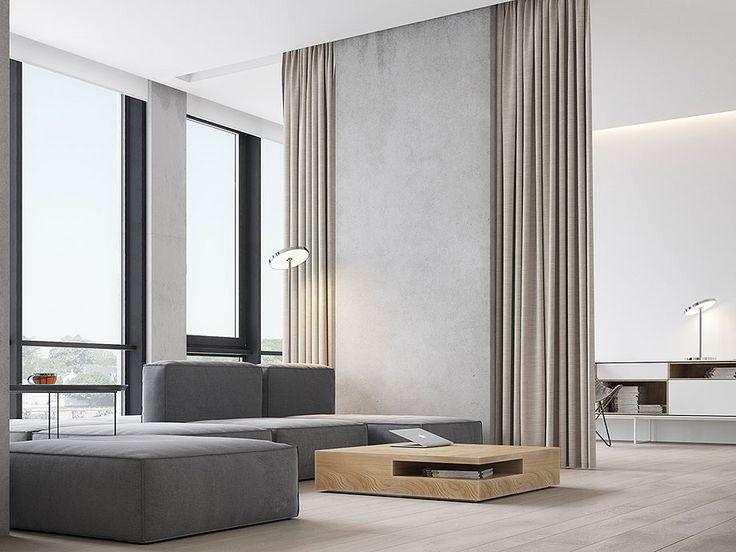 3 white themed homes with striking modern minimalist aesthetics design sticker