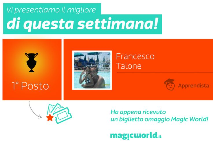 Il terzo vincitore MyMagic di Giugno!  Bravo: http://www.magicworld.it/?p=41810