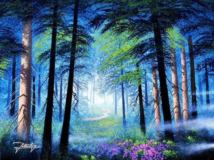 340 best images about paint beautifully 5 on pinterest for Enchanted forest wall mural