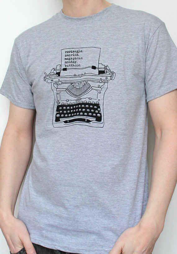 Ron's typewriting on a t shirt. Cool