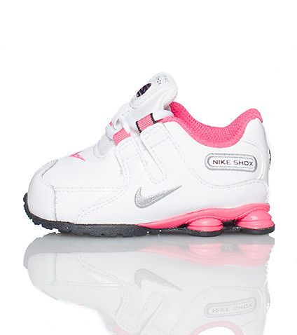 NIKE Toddler low top sneaker Lace up closure Padded tongue with NIKE SHOX logo and bubble Embroidered NIKE swoosh on toe box Cushioned sole for comfort