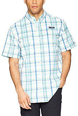 6177bb85355 Amazon.com : Columbia Men's Super Low Drag Short Sleeve Shirt, Emerald City  Open Plaid, Medium : Sports & Outdoors