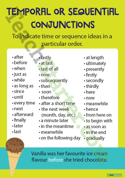 Conjunctions Upper Grades  Teaching Resource A set of 8 educational posters for sentence conjunctions. http://teachstart.co/YVADCL