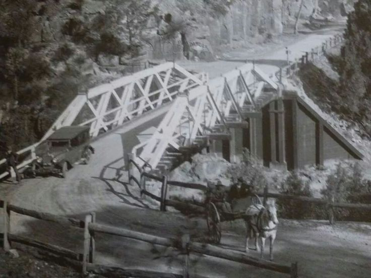 Bridge in Galston Gorge in the 1920s or 1930s.Photo from Hornsby Shire Council Library.A♥W
