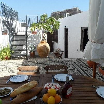 Light Lunch at Lindos Villa Helena