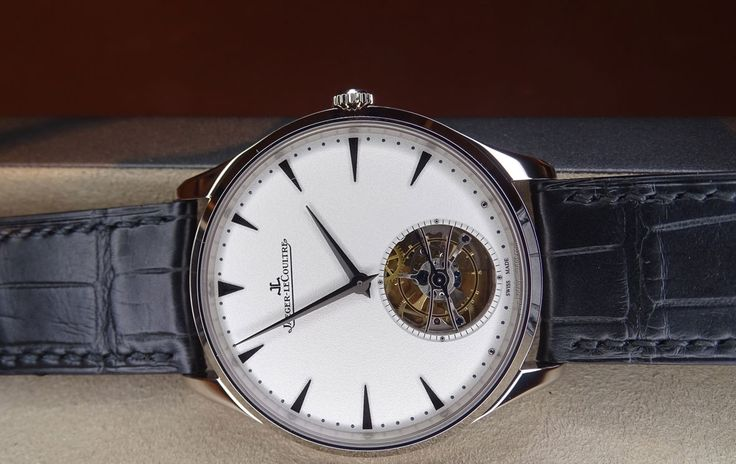 Jaeger-LeCoultre Master Ultra Thin Tourbillon oro blanco frontal